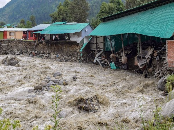 Damage and destruction cause after a cloudburst, in Kullu. PTI file photo