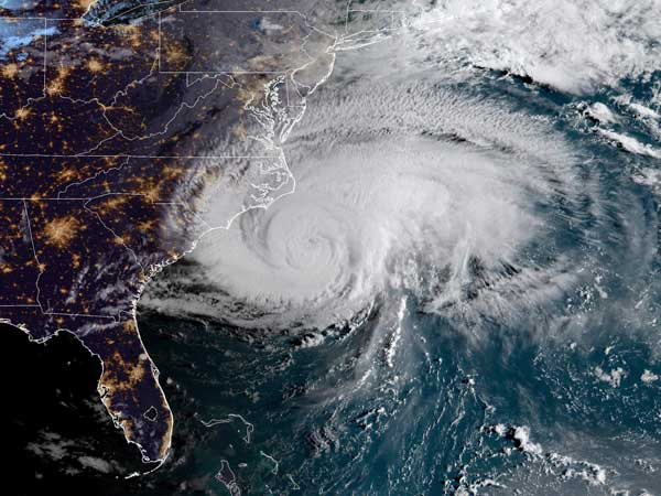 Hurricane Florence's onslaught begins
