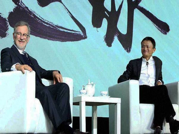 Jack Ma With Steven Spielberg