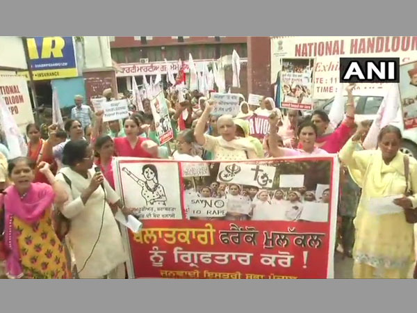 Women protest against rape accused Bishop in Jalandhar