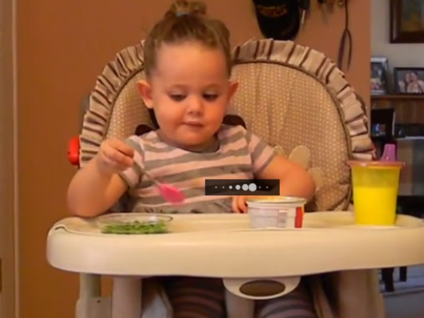 Little girl utters a word that makes her parents embarrassed
