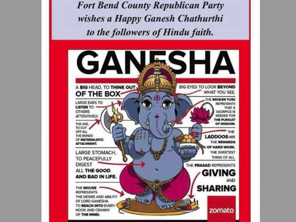 Lord Ganesha finds himself as an election symbol in USA and hell breaks loose