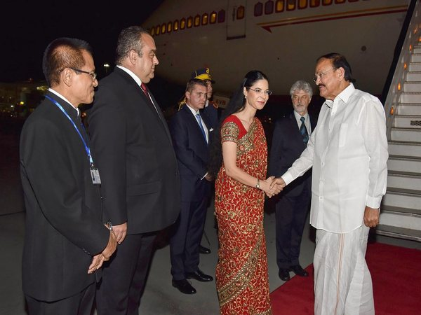 Vice Prez Venkaiah Naidu welcomed in Romania