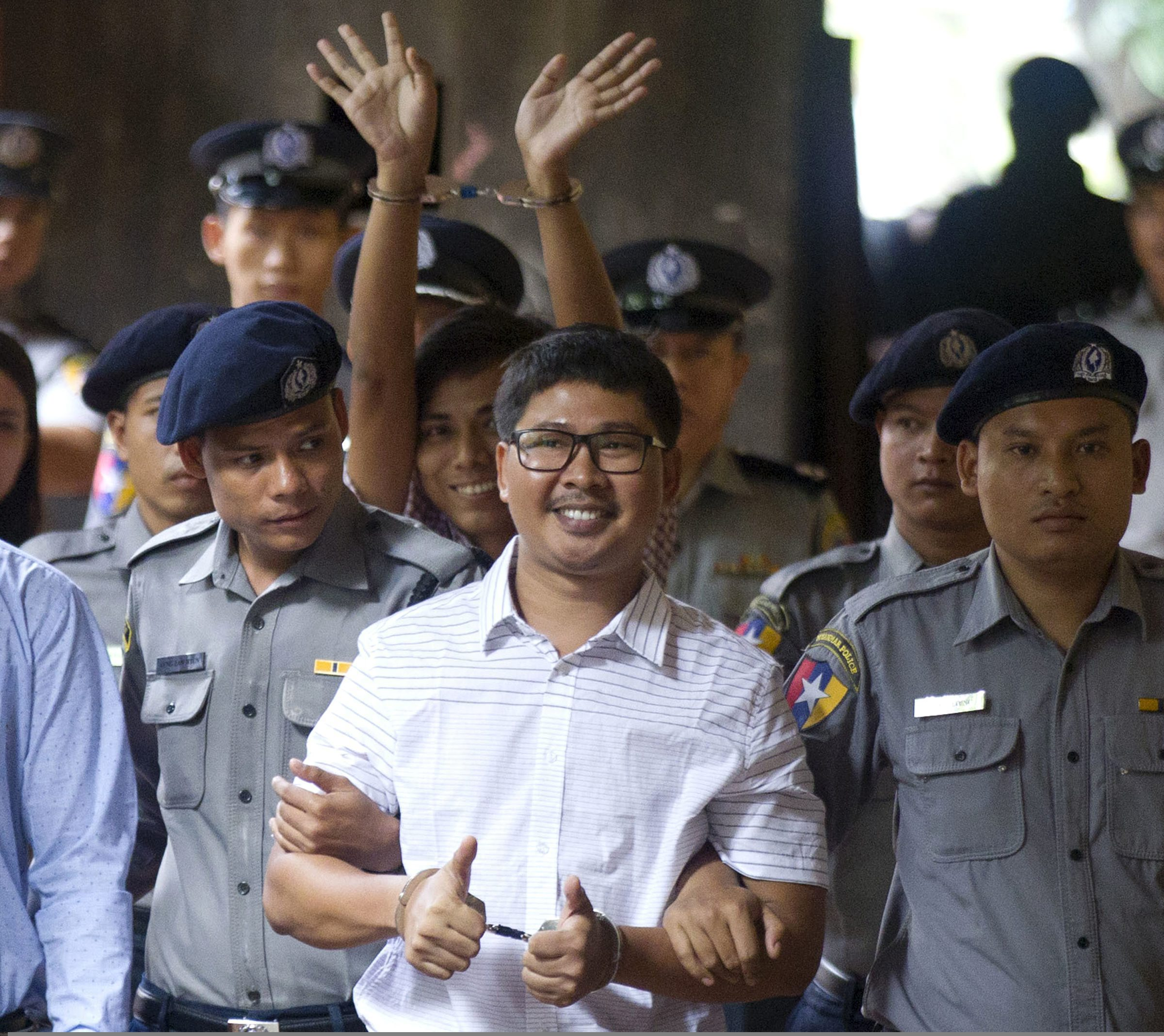 Myanmar sentences 2 Reuters reports to 7 years in jail