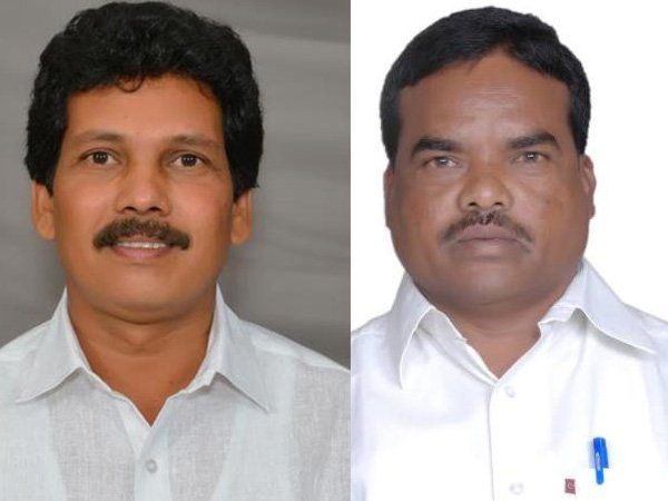 Telugu Desam Party MLA, Kidari Sarveswara Rao and his colleague, Siveri Soma