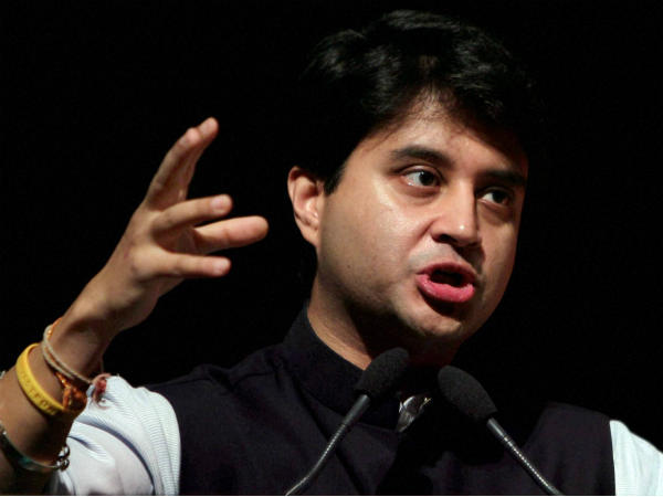 File photo of Congress leader Jyotiraditya Scindia