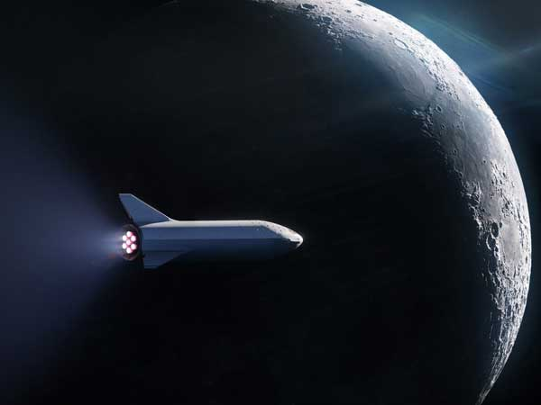 Elon Musk names Japanese billionaire for around-the-moon space trip