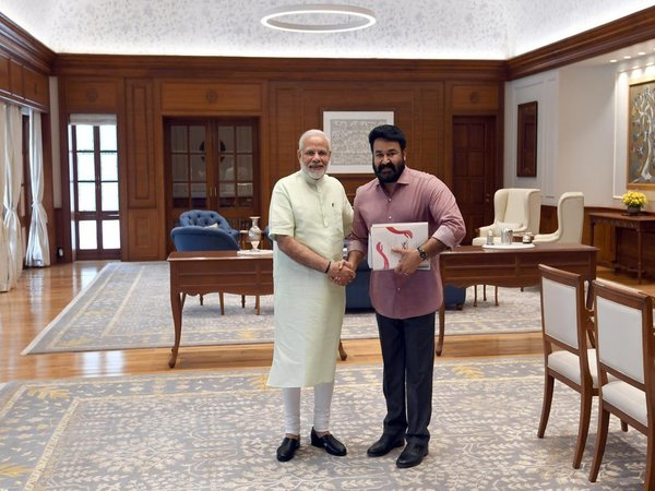 Popular actor Mohanlal meets Prime Minister Narendra Modi in New Delhi