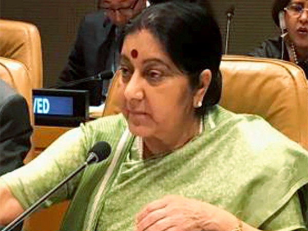 Union Minister for External Affairs Sushma Swaraj