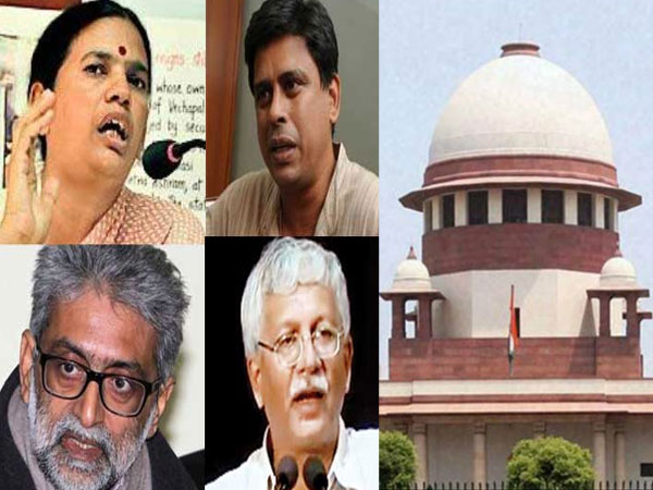 Bhima-Koregaon: Activists to remain under house arrest till Sep 17 says SC