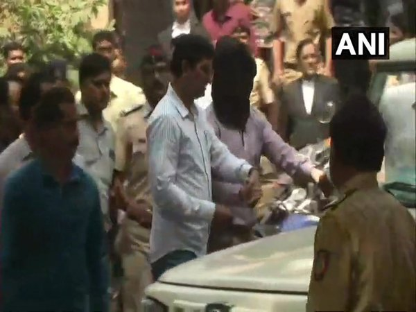 Nishant Agarwal outside Lucknow Special CJM Court (Image courtesy - ANI/Twitter)