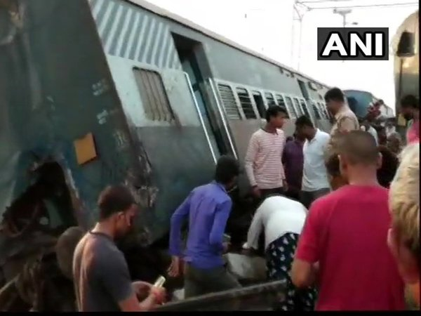5 killed, several injured after New Farakka Express train derails in UP. Courtesy: ANI news