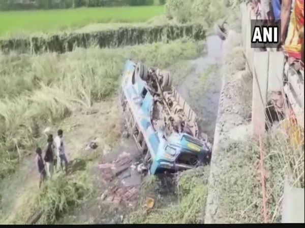 [West Bengal: 6 killed, 20 injured as bus falls into canal in Hooghly district]