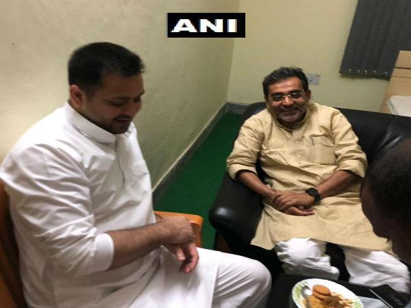 Upendra Kushwaha calls on RJD Leader Tejashwi Yadav after BJP agrees on 50-50 seat sharing formula