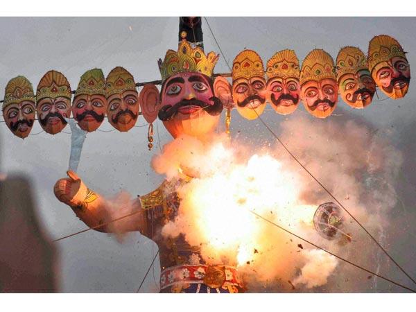#MeToo Ravana burned in Delhi