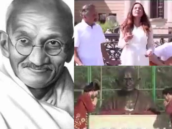 Artists from 124 countries contribute musically through Gandhijis favourite bhajan Vaishnav Jan...