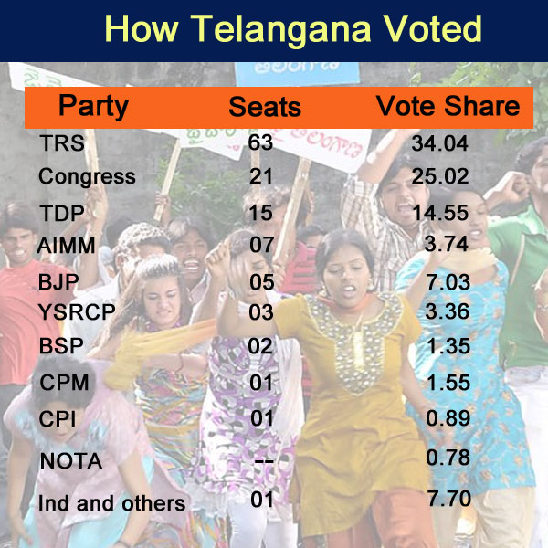Infographic: How Telangana voted in 2014