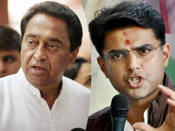 Congress leaders Kamal Naths and Sachin Pilot