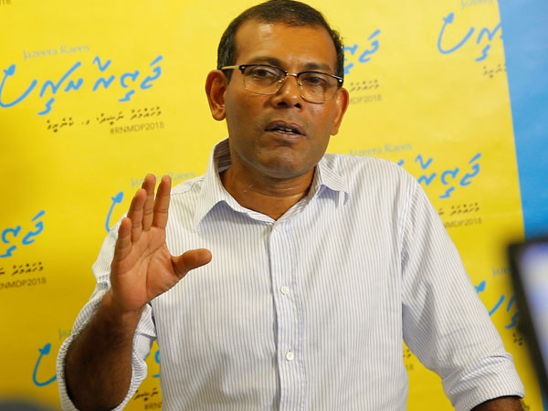Maldives court suspends jail term for ex-President Nasheed