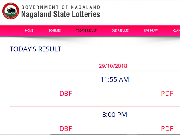 Nagaland Lottery result 2018: 11.55 pm result here, 8 pm yet to be uploaded