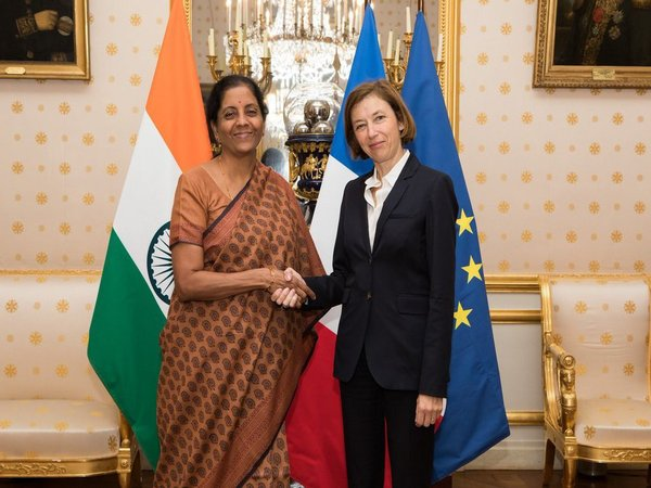 Defence Minister Nirmala Sitharaman and the Minister of Armed Forces of France Florence Parly