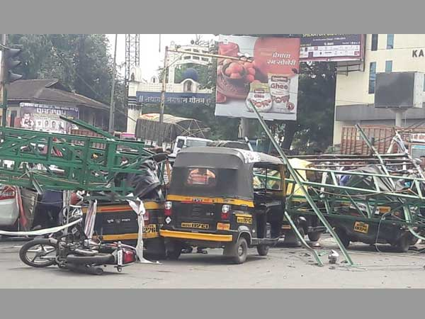 3 dead after hoarding frame collapses in Pune