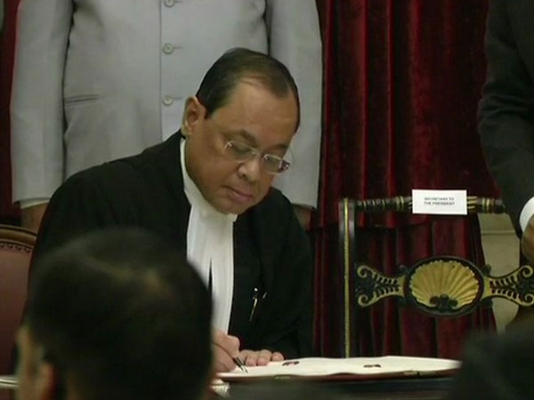 Justice Ranjan Gogoi sworn-in as the Chief Justice of India (CJI) at Rashtrapati Bhavan