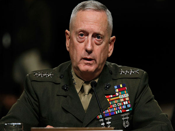 US Secretary of Defense Jim Mattis