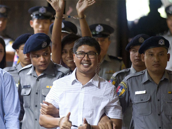 Reuters journalists Wa Lone and Kyaw Soe Oo