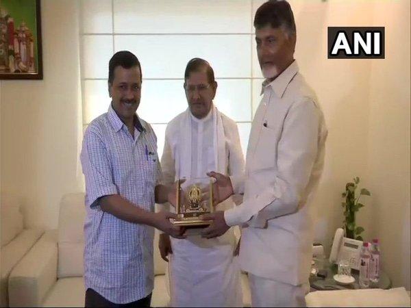 2019 Lok Sabha polls: Chandrababu Naidu meets Kejriwal, Mayawati to discuss national issues