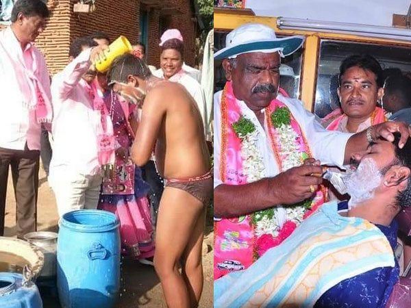Telangana polls: They will bathe you and then shave you for your votes