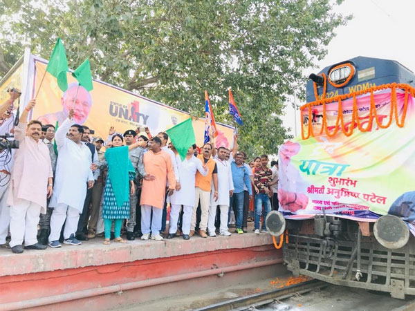 Train from Varanasi chugs off to Vadodara to witness unveiling of Statue of Unity