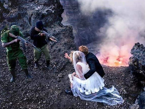 [Wedding photo-shoot themed on Congo civil war leaves social media aghast]