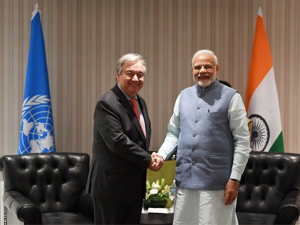 UN chief Antonio Guterres and Prime Minister Narendra Modi. Courtesy: @narendramodi
