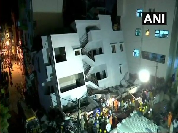 Under construction building collapses in Bengaluru, one dead (Image courtesy - ANI/Twitter)