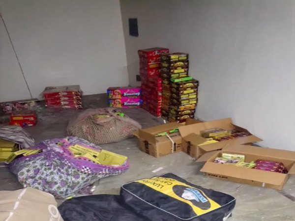 Crackers seized from Dwarka today