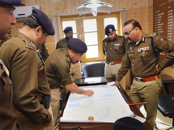 Newly appointed Director General of Police Dilbag Singh visits a police station in Srinagar city