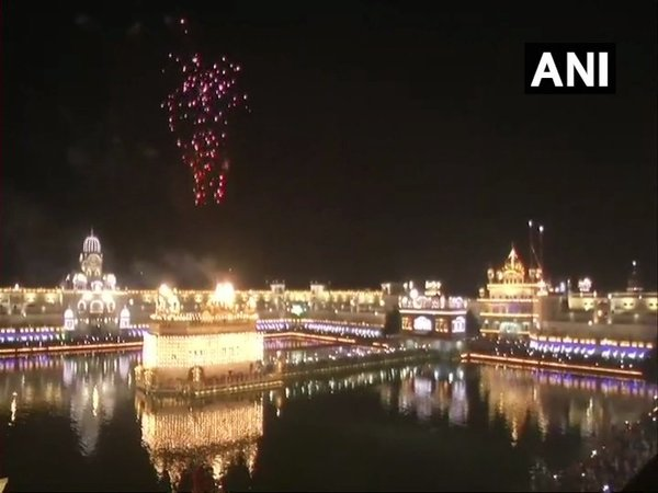 Fireworks at the Golden Temple in Amritsar