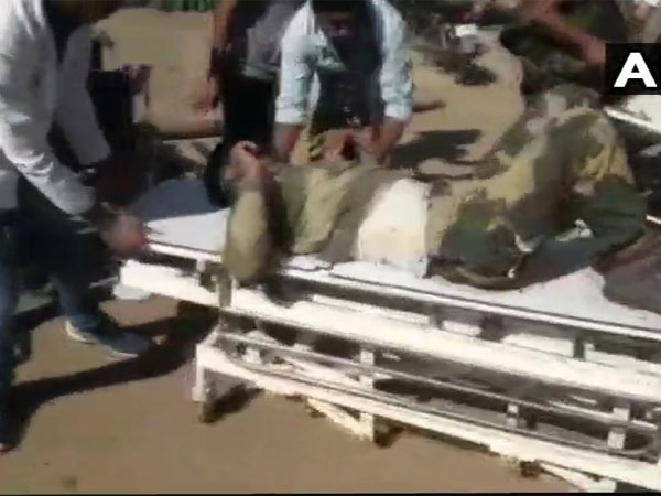 BSF jawans injured in IED blast in Bijapur Ghatti today, being treated at district hospital in Bijapur. Courtesy: ANI news