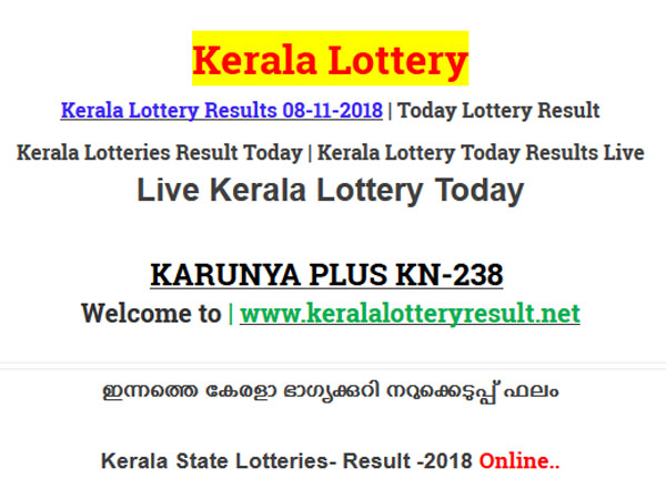 Kerala Lottery Result Today: Karunya Plus KN-238 Today Lottery Results LIVE, prize Rs 80 lakh