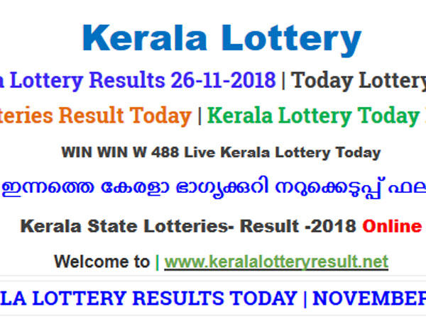 Kerala Lottery Result Today: Win Win W-488 Today lottery