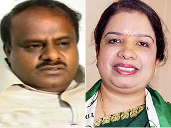 Karnataka CM HD Kumaraswamy and his wife Anitha Kumaraswamy