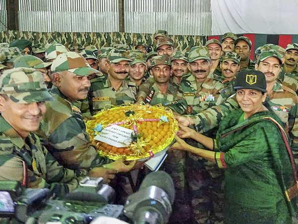Defence Minister celebrates Diwali with troops in Arunachal Pradesh