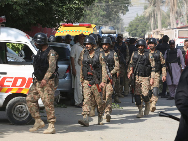 Pakistani security personnel arrive at the Chinese Consulate in Karachi, Pakistan, Friday, Nov. 23, 2018. Pakistani police say gunmen have stormed the Chinese Consulate in the countrys southern port city of Karachi, triggering an intense shootout. AP/PTI photo