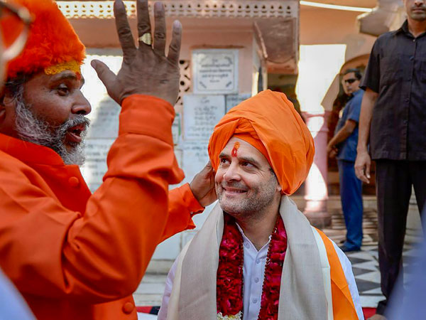 Rahul Gandhi in Temple
