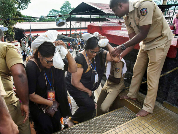 Kerala: Police considering choppers to airlift women devotees to Sabarimala