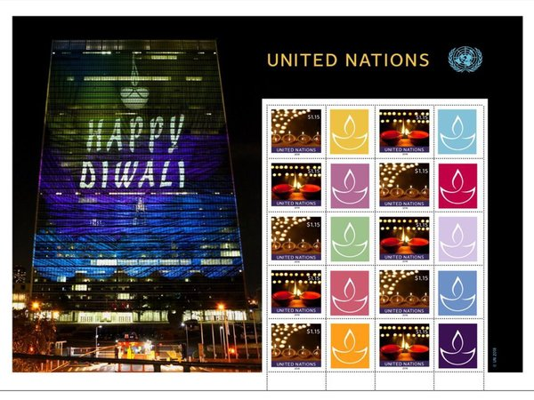 Diwai stamps released by UN
