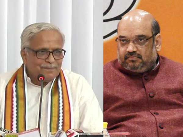 Bhaiyaji Joshi meets Shah to discuss not only preparations for 2019 polls but Ram Temple too