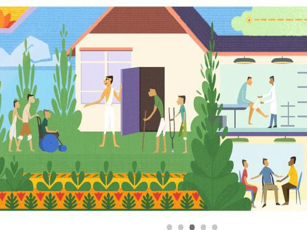 Google dedicates doodle to social worker Baba Amte