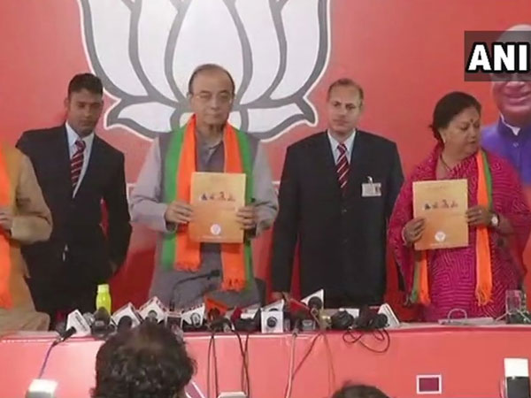 BJP releaseing manifesto for Rajasthan polls